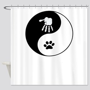 Cats And Humans Shower Curtain