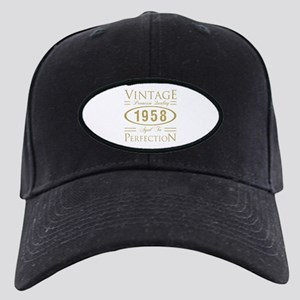 Vintage 1958 Premium Black Cap with Patch