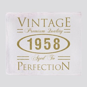 Vintage 1958 Premium Throw Blanket