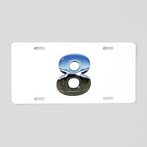 Chrome Number 8 Aluminum License Plate