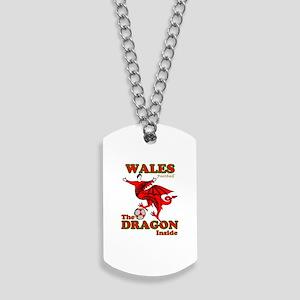 Wales football the dragon inside Dog Tags