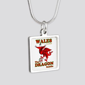 Wales football the dragon inside Necklaces