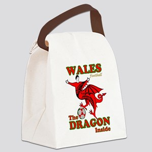 Wales football the dragon inside Canvas Lunch Bag