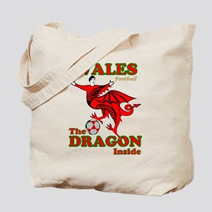 Wales football the dragon inside Tote Bag