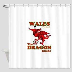 Wales football the dragon inside Shower Curtain