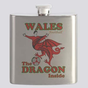 Wales football the dragon inside Flask