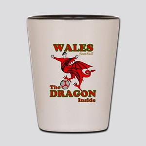 Wales football the dragon inside Shot Glass