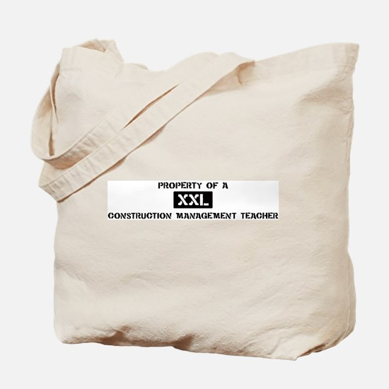 Property of: Construction Man Tote Bag