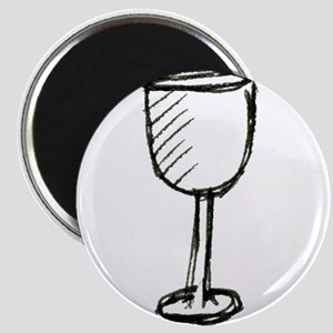 A Wine Glass Pen Illustration Magnets