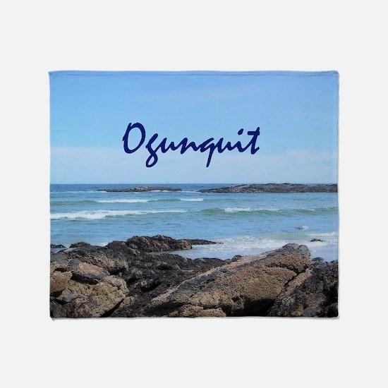 Funny Beach ocean Throw Blanket