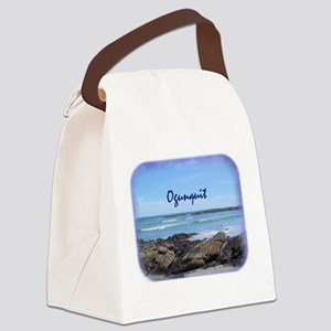 Ogunquit Maine Coastline Canvas Lunch Bag