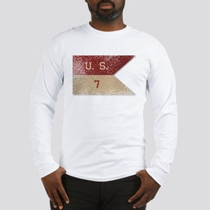 7th Cavalry Flag Long Sleeve T-Shirt