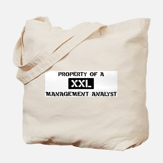 Property of: Management Analy Tote Bag