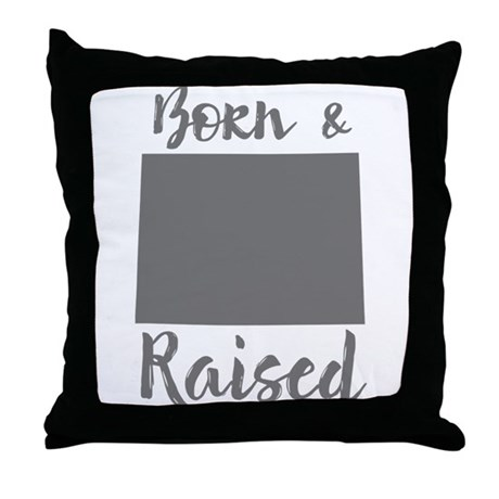 Born & Raised Throw Pillow from