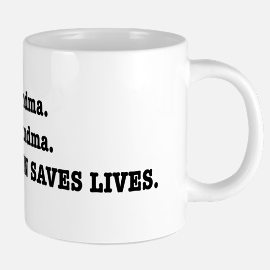 Punctuation Saves Lives Mugs