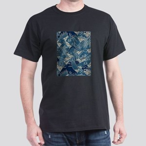 japanese mountain with snow Dark T-Shirt
