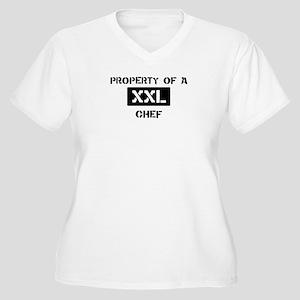 Property of: Chef Women's Plus Size V-Neck T-Shirt