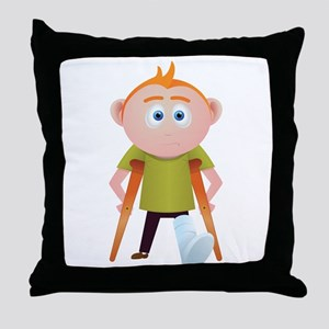 broken leg Throw Pillow