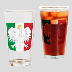 Polish Italian Coat of Arms Drinking Glass