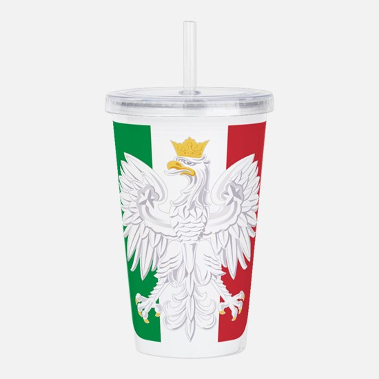 Polish Italian Coat of Acrylic Double-wall Tumbler