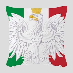 Polish Italian Coat of Arms Woven Throw Pillow