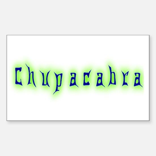 CT-Chupracabra Text Rectangle Decal