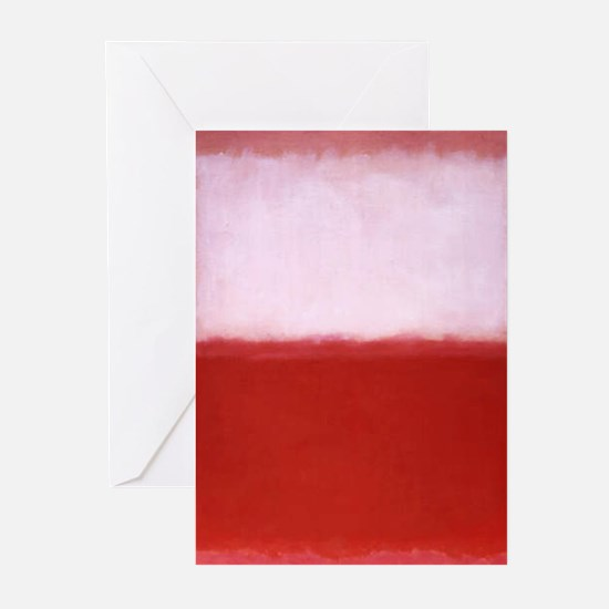 ROTHKO RED AND WHITE-BLEEDING HEART Greeting Cards