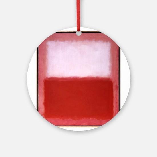 ROTHKO RED AND WHITE-BLEEDING HEART Round Ornament