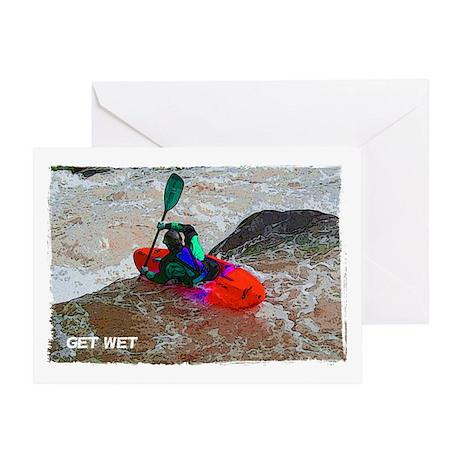 GET WET Blank Greeting Card