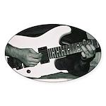 Play Guitar Oval Sticker