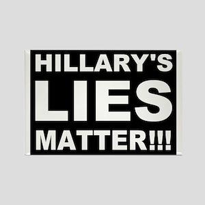 Hillary's Lies Matter Rectangle Magnet