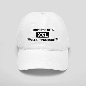 Property of: Braille Transcri Cap