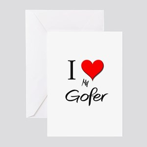 I Love My Gofer Greeting Cards (Pk of 10)