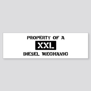 Property of: Diesel Mechanic Bumper Sticker