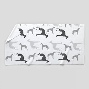 Greyhounds Pattern Beach Towel