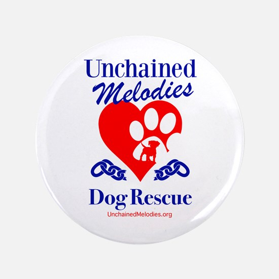 Unchained Melodies Dog Rescue Heart Button