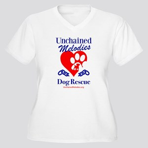 Unchained Melodies Dog Rescue Heart Plus Size T-Sh