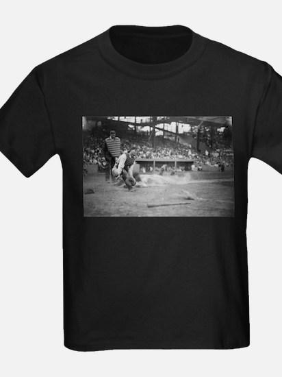 Lou Gehrig Sliding into Home Plate T-Shirt