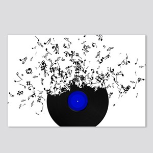 Music Disc Vinyl Postcards (Package of 8)