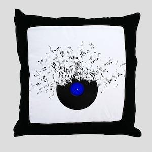Music Disc Vinyl Throw Pillow