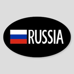 Russia: Russian Flag & Russia Sticker (Oval)