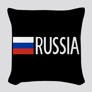 Russia: Russian Flag & Russia Woven Throw Pillow