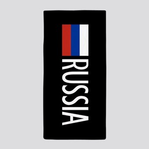Russia: Russian Flag & Russia Beach Towel
