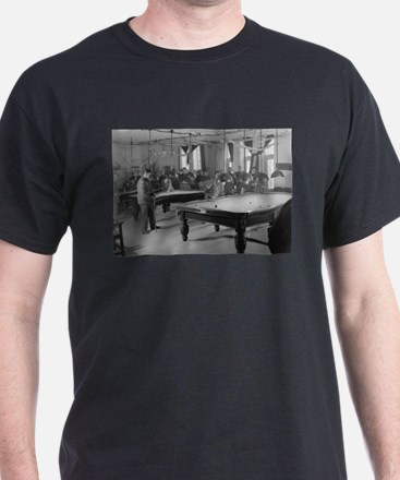 Billiards Room for Soldiers at the YMCA T-Shirt