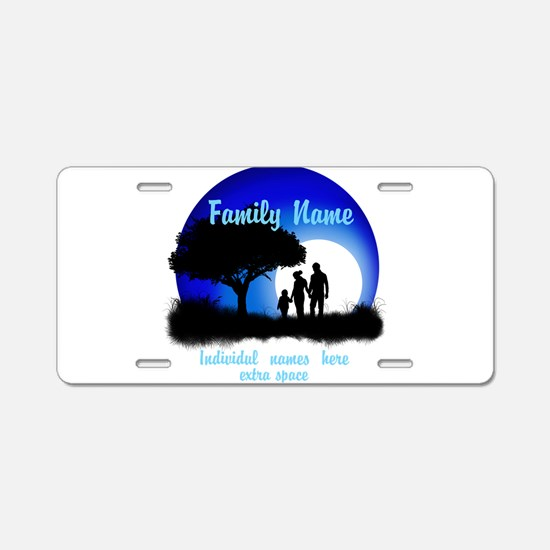 Happy Family Aluminum License Plate