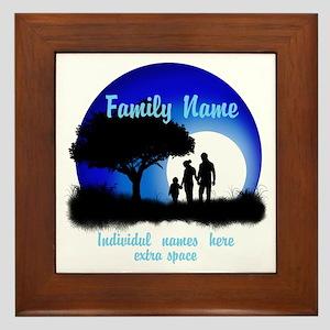 Happy Family Framed Tile