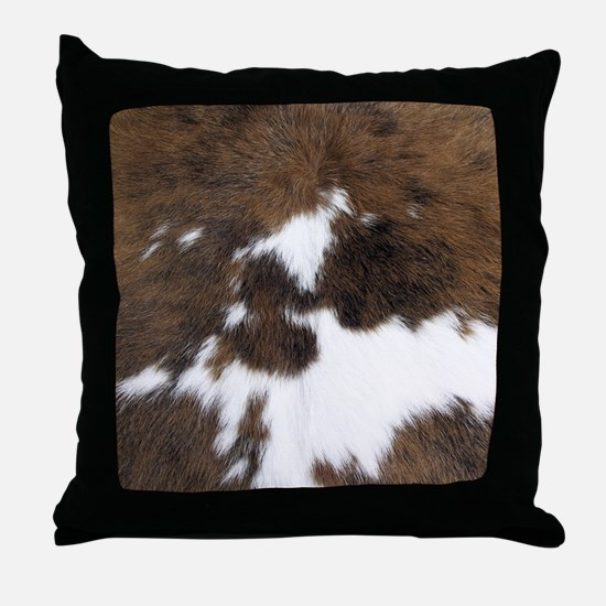 Cool Leather Throw Pillow