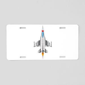 Modern Jet Fighter Plane Aluminum License Plate