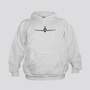 Old Style Fighter Aircraft Kids Hoodie