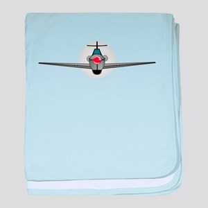 Old Style Fighter Aircraft baby blanket